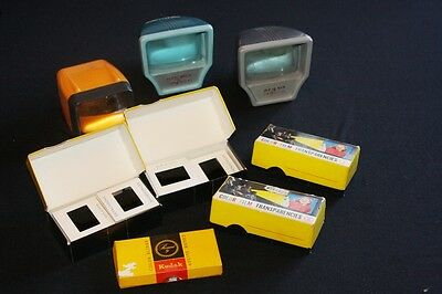 Vintage ARGUS  HAMINEX & C SCUPPER Slide Viewers + 5 Boxes of Demo Colour Slides
