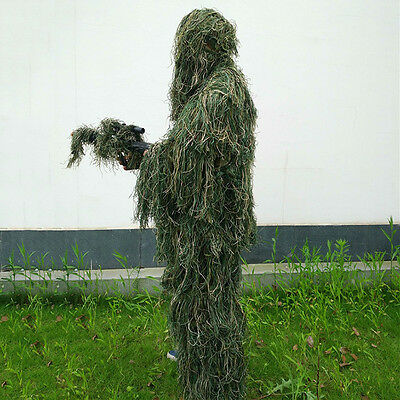 HOT3DCamouflage Leaf Clothing Hunting Camo Yowie Sniper Archery Ghillie Suit Set