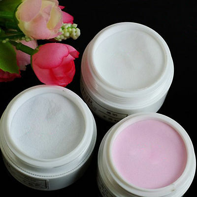 Pro 3 Color Clear Pink White Acrylic Powder Base Kit Nail Art Tips Dust Set