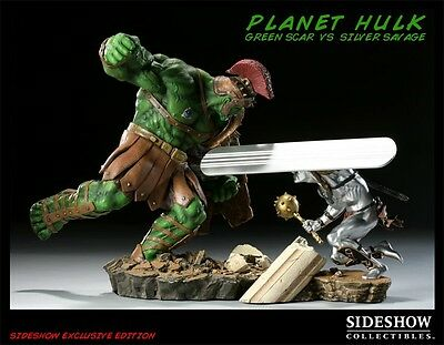 Sideshow Green Scar Vs Silver Savage Exclusive