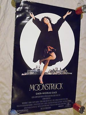 MOONSTRUCK 1987 (CHER AND NICHOLAS CAGE) Movie Music Poster 27 X 41