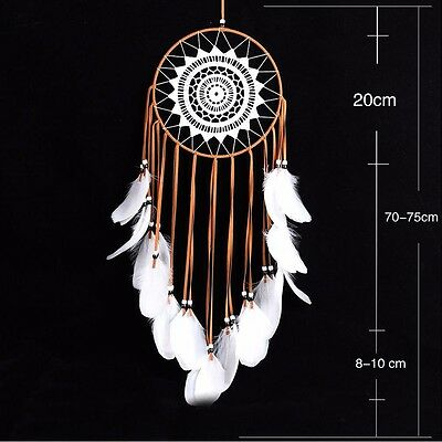 1pc Handmade Dream Catcher With Feathers Car Wall Hanging Decoration Ornament