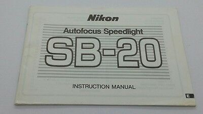 Nikon SB-20 Flash ORIGINAL instruction manual