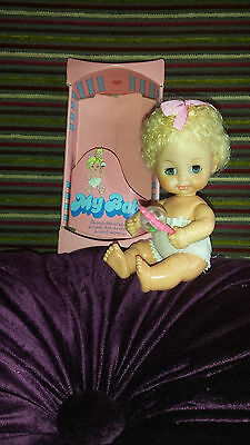 Vintage 'My Baby' Doll - 1975 - Bluebell - Original Box & Rattle
