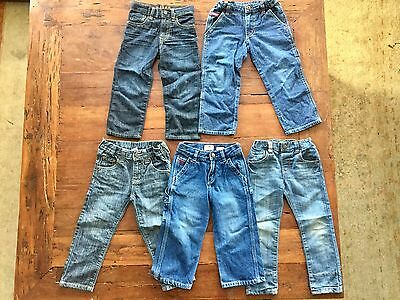 Great Condition Various Boy's Size 3 Denim Jeans X 5 Pairs  + CHEAP POSTAGE!