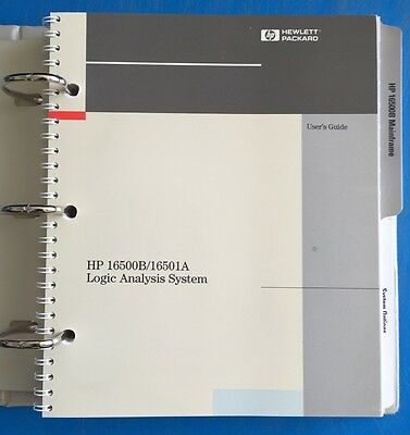 Hewlett Packard Hp 16500B/16501A Logic Analysis System User's Reference, Vol 1