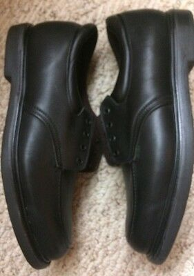 Vintage RED WING Black Leather Postman Safety Toe/Work Oxford Shoe /13 D #107