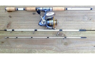 NEW White Tiger Spin Travel Rod with Sea Side SW-CL4000 Fishing Reels Rod Tackle