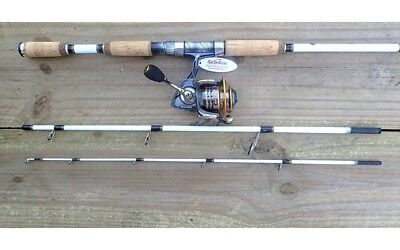 NEW White Tiger Spin Travel Rod with Sea Side SW-CL2000 Fishing Reels Rod Tackle