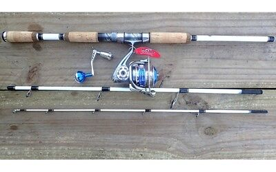 NEW White Tiger Spin Travel Rod with Sea Side SW-LY3500 Fishing Reels Rod Tackle