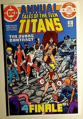 Tales of the Teen Titans Annual #3  NM   (1984, DC) Judas Contract Finale