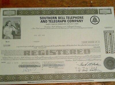 Stock Southern Bell Telephone And Telegraph Company