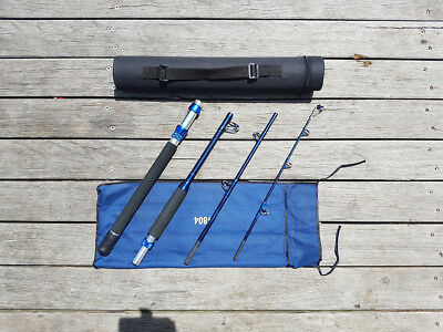NEW OTB Travell Rod 4 piece Off-Shore 1804 Fishing Reels Rod Tackle Jigs Lures B