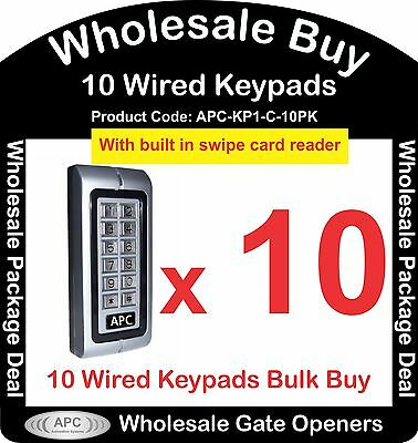 Bulk Buy of 10 x APC Wired Keypads with Built in Swipe Card Reader