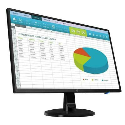 "HP EliteDisplay E243 24"" LCD Computer Monitor 5MS 1080P 16:9 HDMI DP VGA IPS"