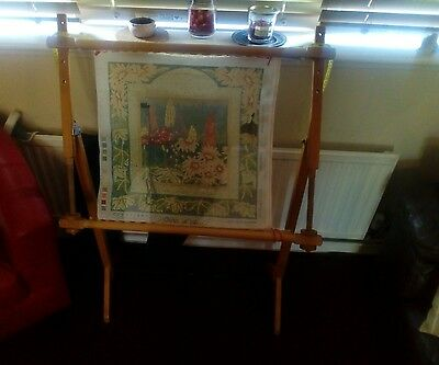 Large cross stitch embroidery frame/rack/stand