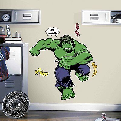 RMK3242GM Classic Hulk Comic Peel and Stick Giant Wall Decals,