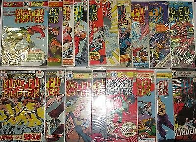 RICHARD DRAGON KUNG-FU FIGHTER #1-18 Full Set! Nice Bronze-Age Series! DC 1975