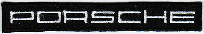 Porsche Text Logo Motor Company Automaker Car Racing Iron On Embroidered Patch