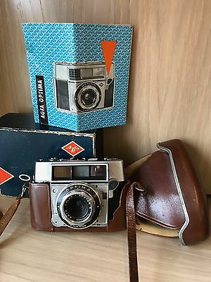 Agfa Optima Vintage Camera in original case and box with manual