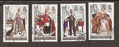Turks & Caicos Islands. 1978. Scott 342-345 (used) British Kings and Queens
