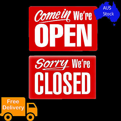 1 x Open and Closed Reversable Store Sign Shop Window Business Signs 30 x 20cm