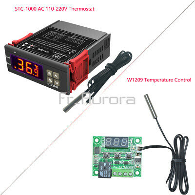 Digital 220V STC-1000 Temperature Controller Thermostat Regulator+Sensor W1209