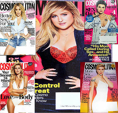 5 Cosmopolitan Magazines Feb March May June July 2017 New