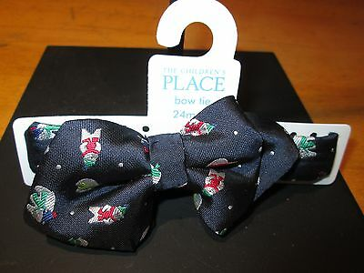 NWT The Children's Place Baby Boy 24 Mo. - 4T Navy Blue Polar Bear Print Bow Tie
