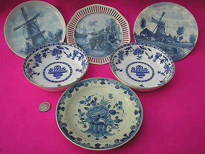 Collectable China 'delft Hand Painted' Plates Blue White Job Lot