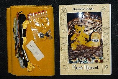 Teddy bear making toy kit. Pattern and fabric with floss, safety eyes & buttons.