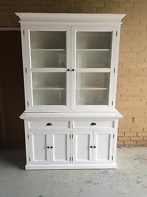 Hamptons Style White Timber Buffet and Hutch
