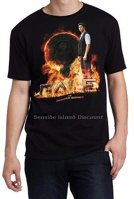 The Hunger Games Mockingjay Movie Black Adult T-Shirt Gale Flaming D12 Seal New