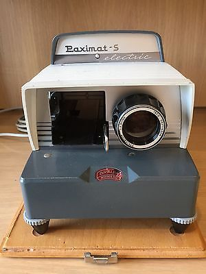 Braun Nurnberg Paximat-S Electric Slide Projector in original case with manual