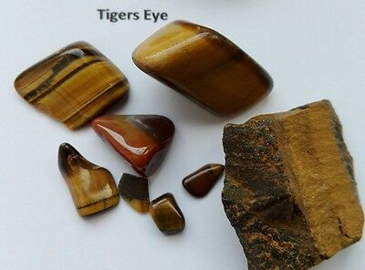 Unusual Rock Collection Amber Jet Dolerite Tigers Eye