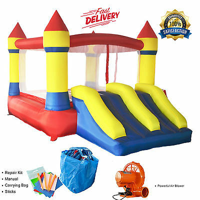 NEW BOUNCE HOUSE Commercial Grade DOUBLE SLIDE Castle Kingdom Inflatable Jumper