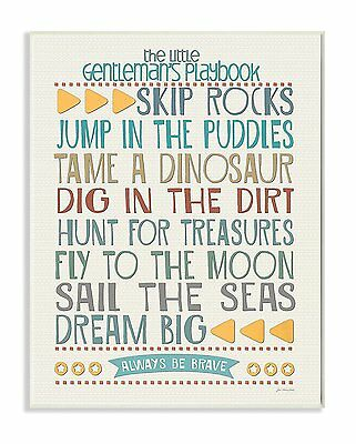 The Kids Room by Stupell Typography Art Wall Plaque, The Little Gentleman's