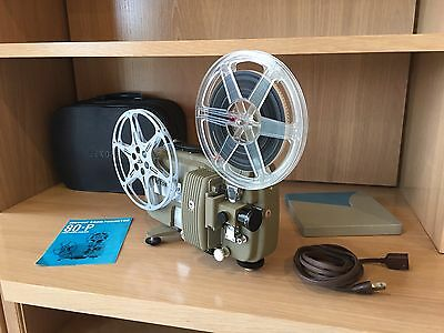 Sekonic 80P 8mm Movie Projector in working order with case and manual - Vintage