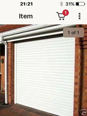Super Bargain! White insulated electric roller shutters 390cm Wide With 3 Remote