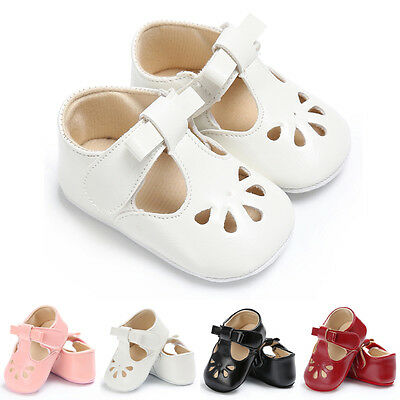 Infant Toddler Baby Girl PU Soft Sole Crib Shoes Sneaker Newborn to 0-18 Months