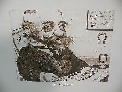 """CHARLES BRAGG /""""THE RIDDLE/"""" OFFSET LITHOGRAPH ON PAPER PLATE SIGNED"""