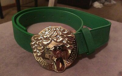 Pink Dolphin BOOSACE size S/M 30 32 34 silver buckle forest green belt RARE