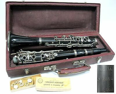 "Vintage Clarinet ""B"" Soviet Russian USSR KIEV with case 1963"