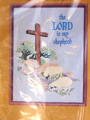 Creative Circle- The Lord is my Shepherd STAMPED CREWEL EMBROIDERY KIT 0301 NIP