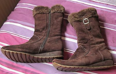 Hush Puppies Brown Leather Suede Boots Size 7