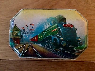 Vintage Small Hollands Toffee Train Steam Engine Picture Tin.