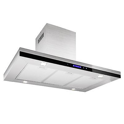Cooker Hood Extractor Fan Stainless Steel 4 Lights New Glass Touchpad Control
