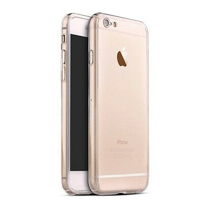 Hybrid 360° Ultra Thin Clear Case+Tempered Glass For iPhone 7 Plus {fk787