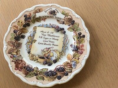 Brambly Hedge Blackberry Sorbet  Plate  signed  by Michael Doulton