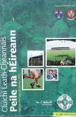 Dublin V Derry 22/8/1993 Gaa All Ireland Football Semi Final